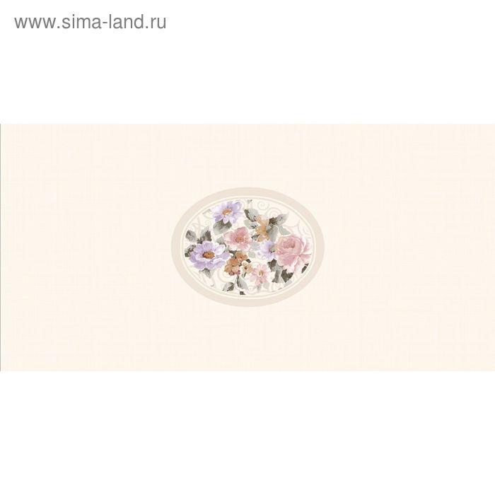 Вставка керамическая 25х50см Селин бежевый 10-03-11-622-0