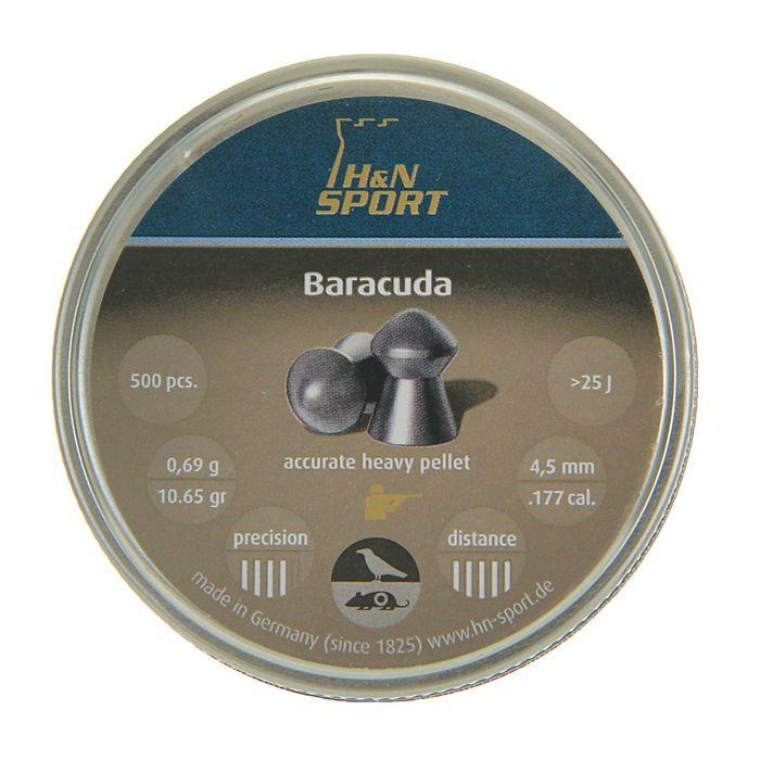 """Пули пневм. """"H&N Barracuda"""", 4,5 мм., 10,65 гран (500 шт.), 92184500005, шт"""
