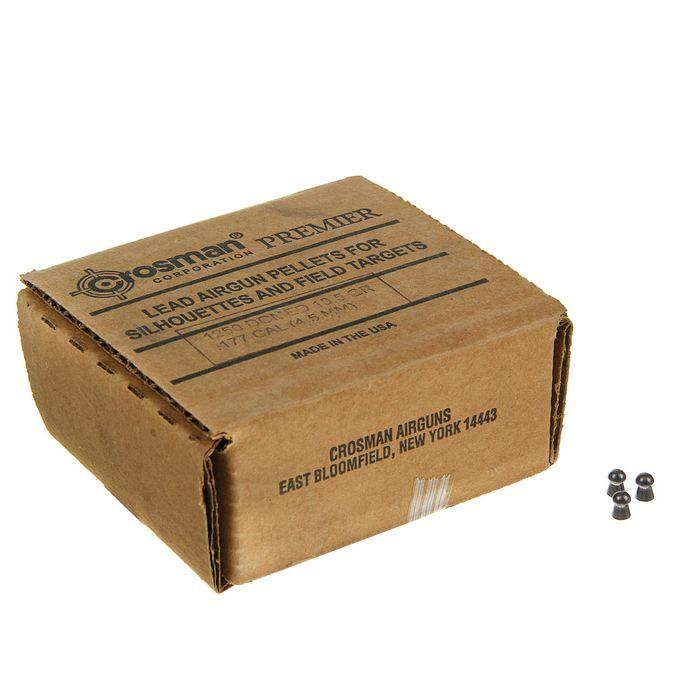 "Пуля пневм. ""Crosman Domed"", 4,5 мм., 10,5 гран, в карт. коробке (1250 шт.) (4 в упаковке), 177HB, ш"