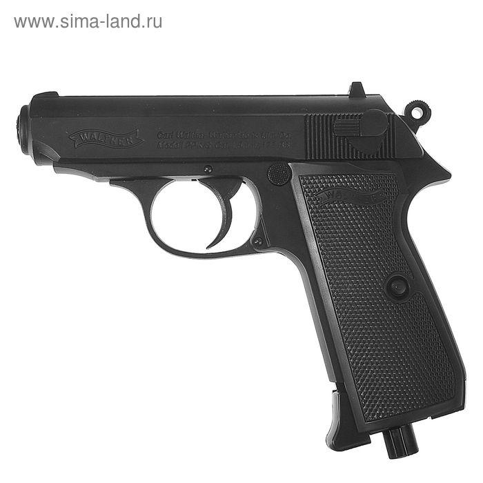 Пистолет пневматический Walther PPK/S (чёрный с чёрн. рукояткой), 5.8060, шт