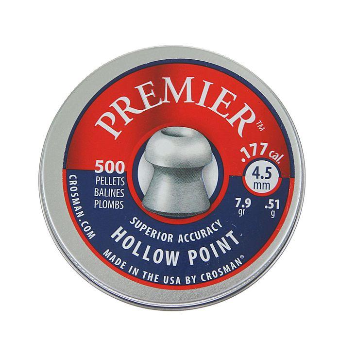 """Пули пневм. """"Crosman Premier Hollow Point"""", 4,5 мм., 7,9 гран (500 шт.) (12 в упаковке), 6-LHP77(LHP"""