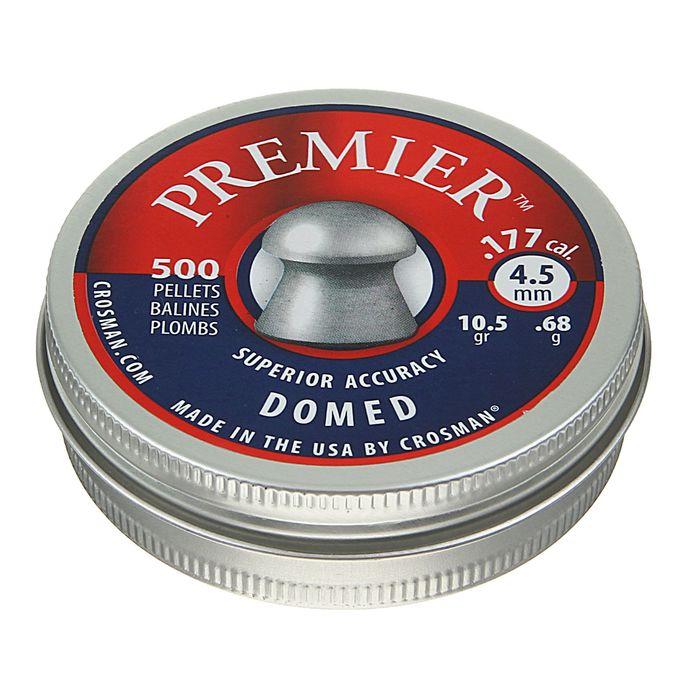 """Пули пневм. """"Crosman Premier Domed"""", 4,5 мм., 10,5 гран (500 шт.)"""