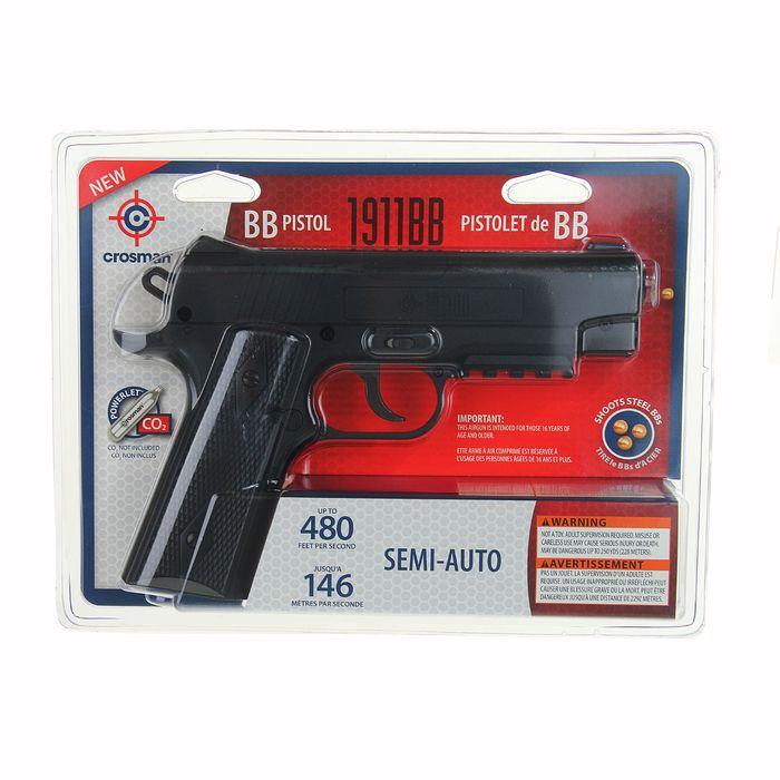 Пистолет пневматический Crosman 1911BB кал. 4,5мм, 40001, шт