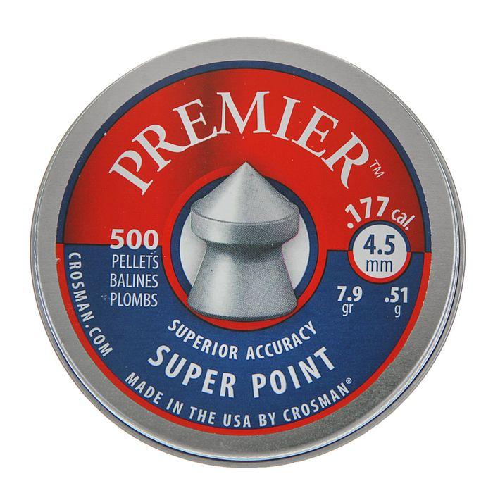 "Пули пневм. ""Crosman Premier Super Point"", 4,5 мм., 7,9 гран (500 шт.) (12 в упаковке), 6-LSP77 (LSP"