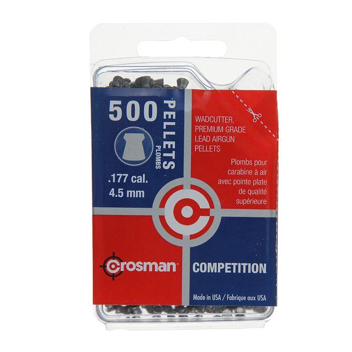 """Пули пневм. """"Crosman Wadcutter"""", 4,5 мм., 7,4 гран (500 шт.) (12 в упаковке), шт"""