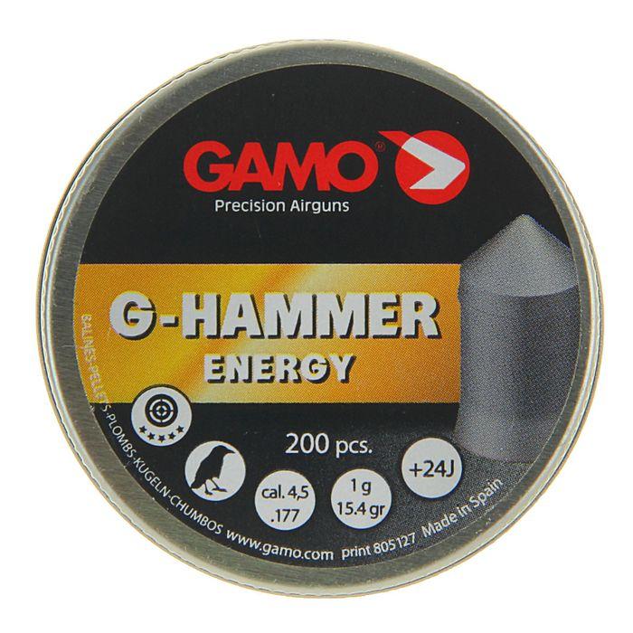 "Пули пневм. ""Gamo G-Hammer"", кал. 4,5 мм., 1 гр (15,4 гран) (200 шт.)"
