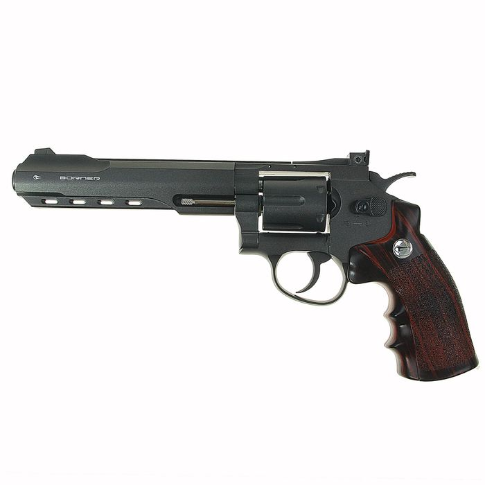 Револьвер пневматический BORNER Super Sport 702, кал. 4,5 мм (с картриджи 6 шт.), 8.4031, шт   14212