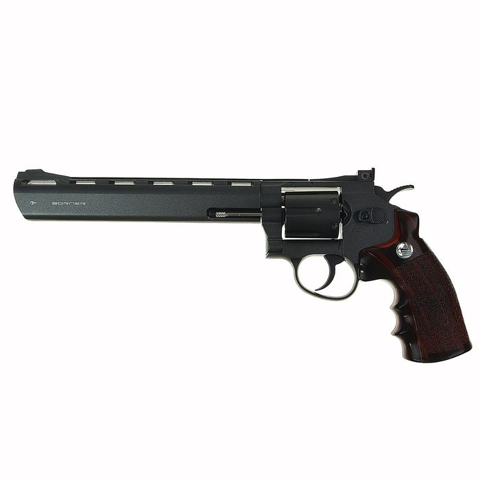 Револьвер пневматический BORNER Super Sport 703, кал. 4,5 мм (с картриджи 6 шт.), 8.4030, шт   14212