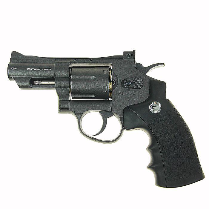 Револьвер пневматический BORNER Super Sport 708, кал. 4,5 мм (с картриджи 6 шт.), 8.4032, шт   14212