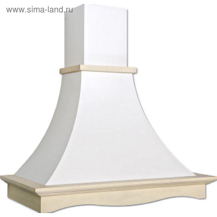 Кухонная вытяжка ELIKOR Рококо 90П-700-П3Г, белый муар/дуб неокрашенный