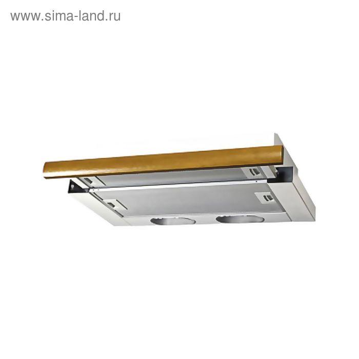 Кухонная вытяжка ELIKOR Интегра 50П-400-В2Л, белая/дуб коричневый