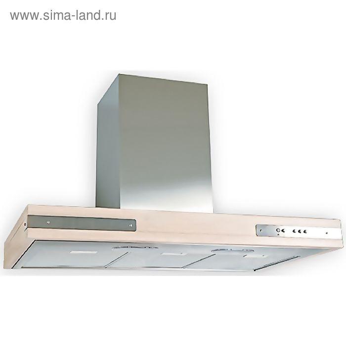 Кухонная вытяжка ELIKOR Патио 90Н-650-К3Л, нержавеющая сталь/дуб выбеленный