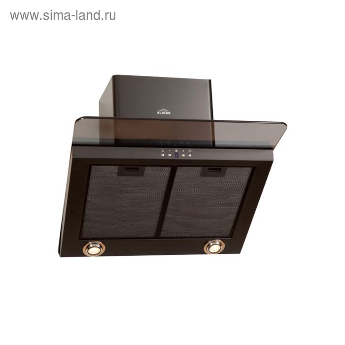 Вытяжка Elikor Аквамарин 60П-650-Э7Г, чёрный/стекло тонированное