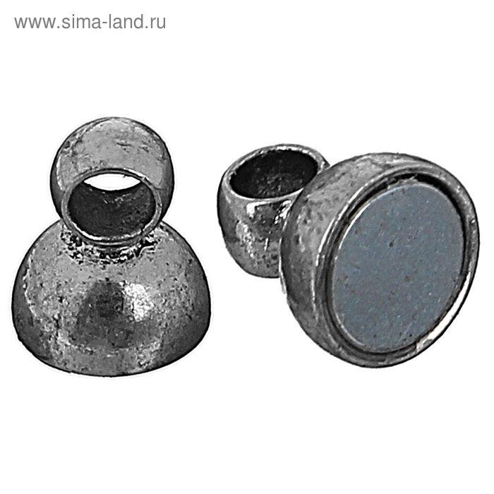 Замок магнитный FMK-M01, набор 5шт, №03 под античное серебро
