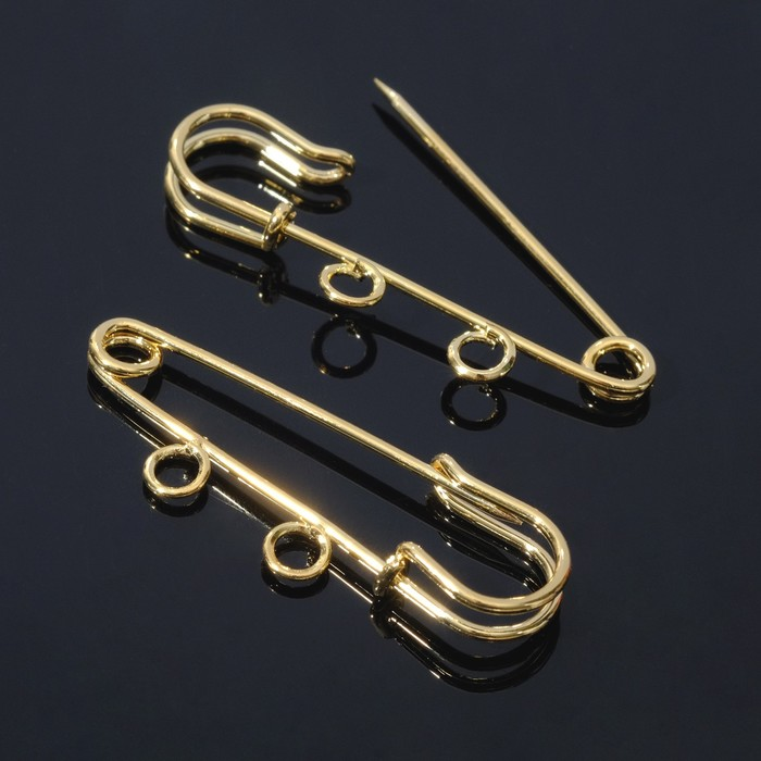 Булавка для подвесок PO-035, №01 (набор 2 шт) 35*5мм, цвет золото