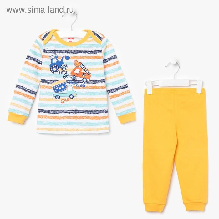 Пижама для мальчика, рост 92 см (56), цвет жёлтый CAB 5281_М