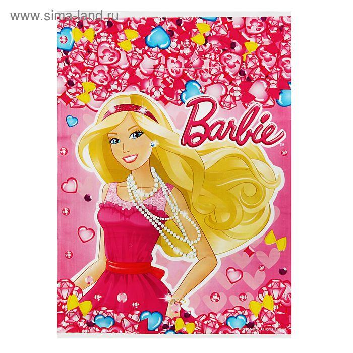 """Пакет """"Барби"""", полиэтиленовый с вырубной ручкой, 29 х 19 см, 30 мкм, Mattel Barbie"""
