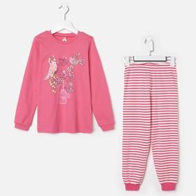 Пижама для девочки, рост 146 см (76), цвет розовый CAJ 5280_Д