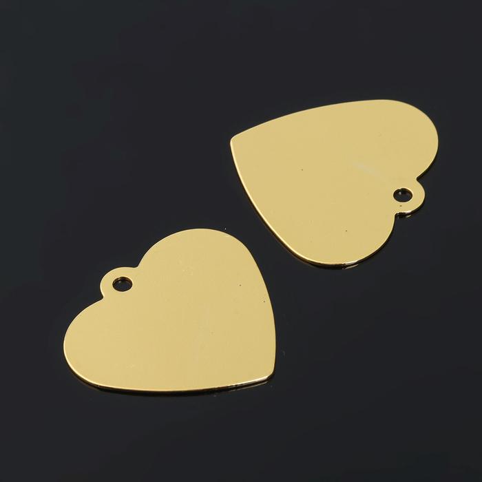 Заготовки для чеканки, SBH-01, сердце 24*22мм, набор 3шт, №02 под золото