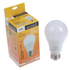 LED lamp Ecola, A60, E27, 9.2 W, 4000 K, 110x60 mm, matte ball.