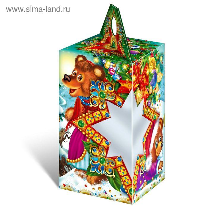 "Подарочная коробка ""Пять медведей"", звезда, сборная, 10 х 10 х 17 см"