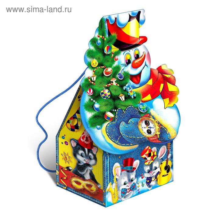 """Подарочная коробка """"Снеговик"""", рюкзак-фигура, сборная, 15 х 10 х 22 см"""