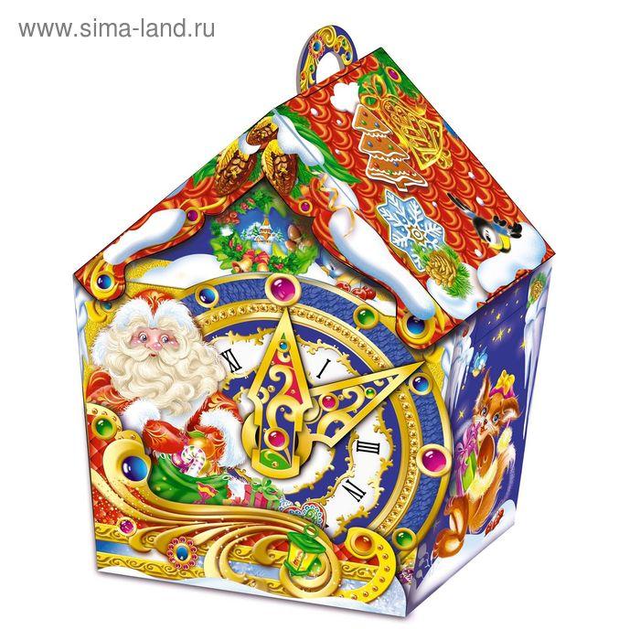 """Подарочная коробка """"С Днем рождения, Дед Мороз!"""", терем с часами, сборная, 19 х 12,5 х 25,5 см   156"""