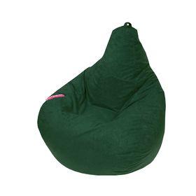 Кресло - мешок «Капля S», диметр 85 см, высота 130 см, цвет зелёный