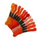 """Набор ниток мулине """"Спектр красный"""", 12шт, 8±1м, цвет оранжевый/красный/жёлтый"""