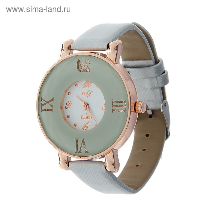 Часы наручные женские цветной ободок с римскми цифрами, ремешок серебро