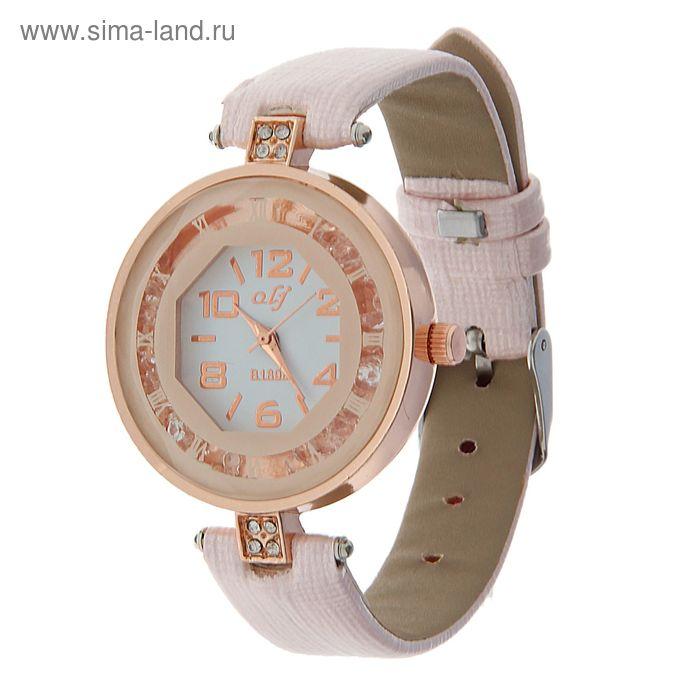 Часы наручные женские цветной ободок с римскми цифрами и стразами, ремешок розовый
