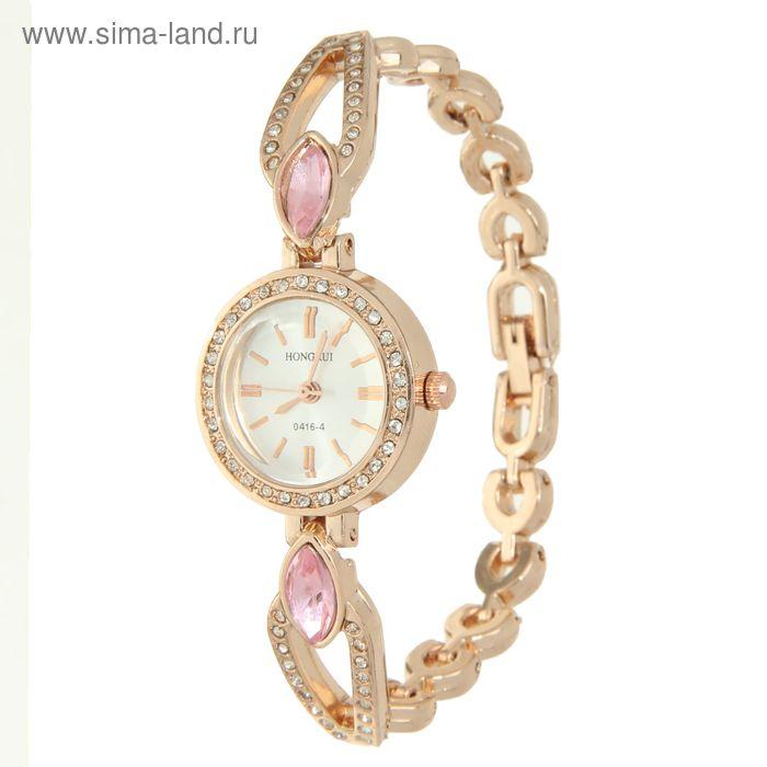 Часы наручные женские, браслет металл со стразами с камнем