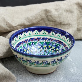 Коса малая Риштанская Керамика 0.5 л, 15см, сине-зелёная, микс