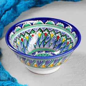 Коса большая Риштанская Керамика, 18см, сине-зелёная МИКС