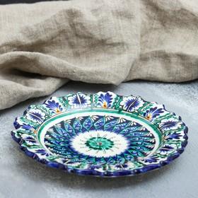 Тарелка плоская рифленая Риштанская Керамика 17см