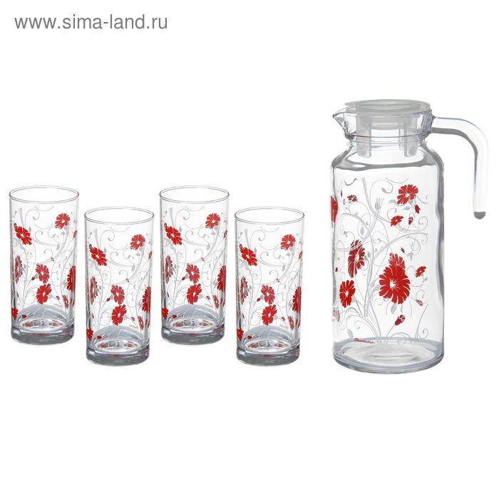 "Набор питьевой ""Уоркшоп Серенейд Рэд"": кувшин, 4 стакана"