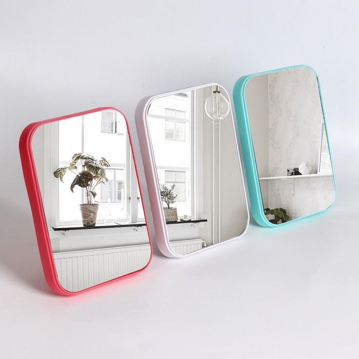 Зеркало настольное, зеркальная поверхность 12,7 × 17,7 см, МИКС