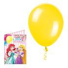 """Открытка с шариком """"С Днем Рождения"""", Принцессы"""