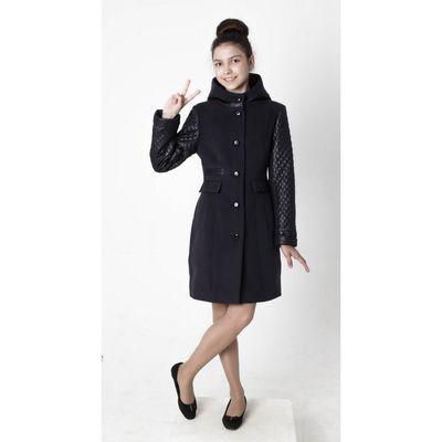 """Пальто для девочки """"Миранда"""", рост 164 см, цвет тёмно-синий"""