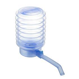 Помпа для воды LuazON, механическая, прозрачная, под бутыль от 11 до 19 л, голубая