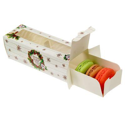 "Коробочка для макарун ""Снегопад радостей"", 18 х 5,5 х 5,5 см"