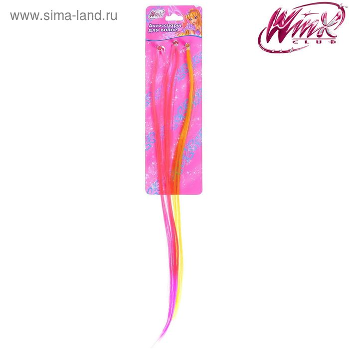 Набор цветных прядей Феи ВИНКС: Стелла, 3 шт., 6 х 20 см
