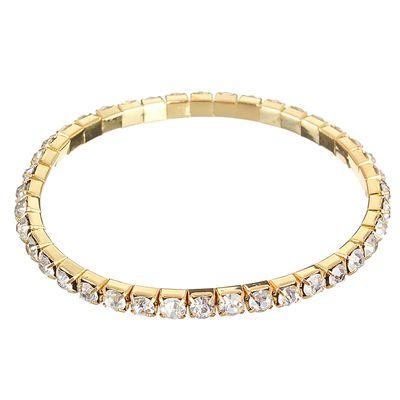 """Браслет со стразами """"Лёд"""" 1 ряд, цвет белый в золоте, 4 мм"""