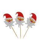 """Шпажки для канапе """"Улыбчивый Дед Мороз"""" (набор 24 шт)"""