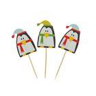 "Шпажки для канапе ""Пингвин в шапочке"" (набор 24 шт)"