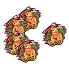 Шильдик декоративный на подарок «Новогодние посиделки», 9 × 10 см