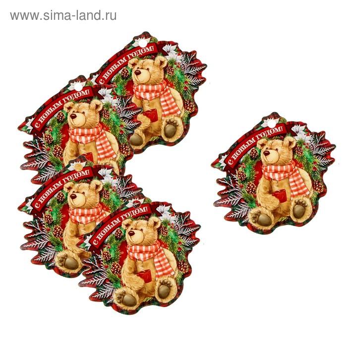 """Декоративный шильдик на подарок """"Новогодние посиделки"""", 9 х 10 см"""