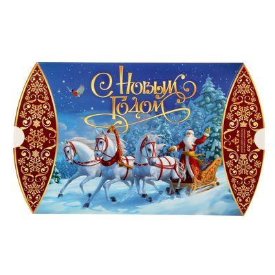 Коробка сборная фигурная «Новогодняя тройка», 19 х 14 х 4 см