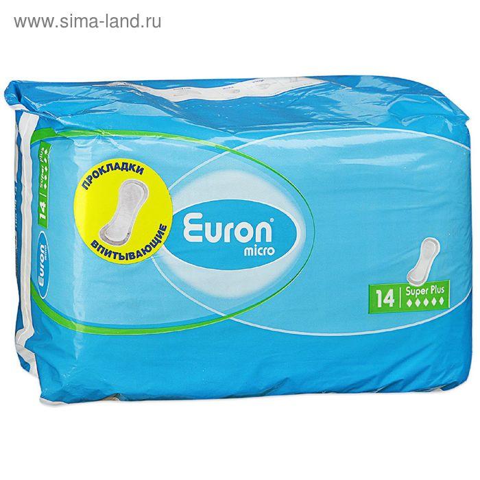 Прокладки Euron Micro Super Plus послеродовые и урологические, 14 шт