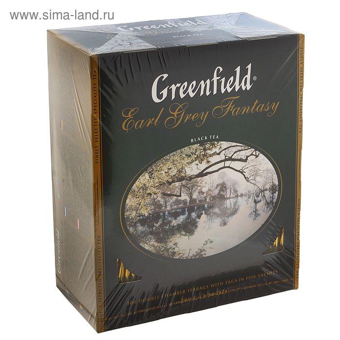 Чай Greenfield Earl Grey fantasy black tea, 100 пак*2 гр